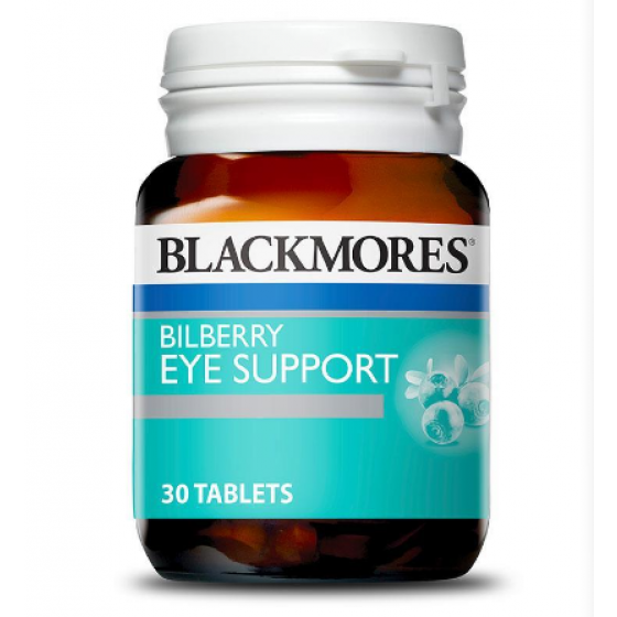 Blackmores Bilberry Eye Support 30 Tablets 澳洲澳佳宝蓝莓护眼片30片装 blackmores缓解眼疲劳视力视网膜