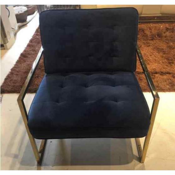 Velvet fabric single sofa