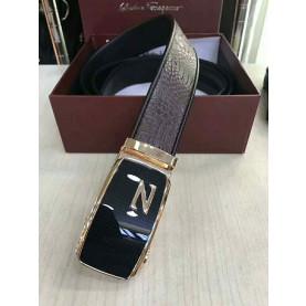 Man crocodile leather belt