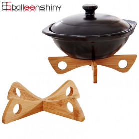 BallenShiny Placemats Steam Tray Rack Detachable Wood Table Mat Kitchen Pot Heat Insulated Cooling Dish Potholders Gadget Holder