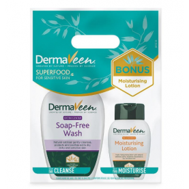 Dermaveen Extra Gentle Soap Free Wash 1 Litre + Moisturising Lotion 250ml