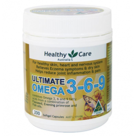 Healthy Care Ultimate Omega 3-6-9 200 Capsules