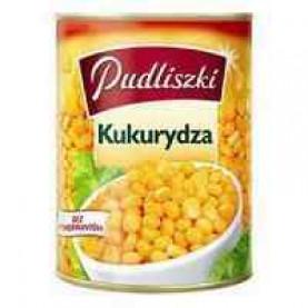 Pudliszki Brand (from Poland, Europe) - Corn, Kukurydza Konserwowa 400g