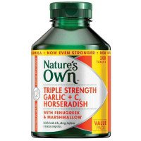 Nature's Own Triple Strength Garlic C Horseradish 200 Tablets