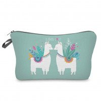 Woman Llama Printed Zipper Travel Make Up Organizer Bag Storage Pouch Neceser Maquillaje Cosmetic Bag Portable Cosmetic Holder