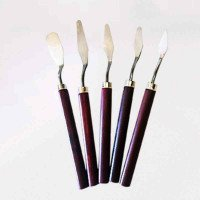 5Pcs Professional Stainless Steel Spatula Kit Palette for oil painting Knife Fine Arts Painting Tool Set flexible blades #20