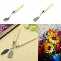 Stainless Steel Oil Painting Paint Art Craft Metal Spatula Set Perfect Artist Painting Calligraphy Palette Knife Spatula