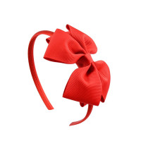 2017 Hot Fashion MulticolorHigh Quality Solid Hairbands Princess Hair Accessories Lady Bowknot Ribbon Hairbands Hair Decor 674