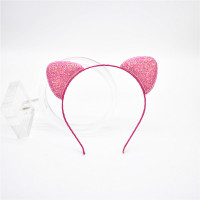 1pcs 2018New fashion children cat ear rainbow bowknot headband girl Glittering hair hoop party this for children Accessories