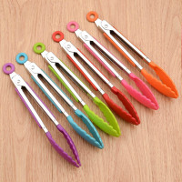 Food Grade Silicone food tong Kitchen Tongs utensil Cooking Tong clip Clamp accessories Salad Serving BBQ tools