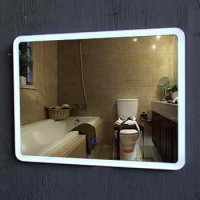Modern Vanity IP44 rated hotel led lighted mirror bathroom mirror