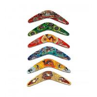 Aboriginal Art Boomerang Magnet set