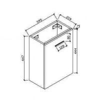 Bathroom cabinet (HAV400-WH)