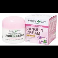 Healthy Care Natural Lanolin & Vitamin E Cream 100g 澳洲Healthy Care绵羊油 HC天然VE维他命E美肤保湿100g