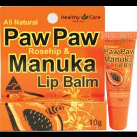 Healthy Care Paw Paw Rosehip & Manuka Lip Balm 10g/ 健康保健木瓜玫瑰和蜂蜜唇膏10g