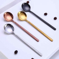 Mini Accessories Coffee Spoon Kitchen Dessertspoon Dining Round Shape Coffee Stainless Steel Home