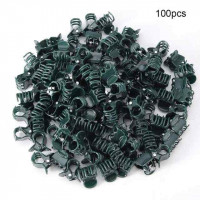 100pcs Orchid Clips Plant Orchid Support Clips Garden Flower Vine Clips for Supporting Stems Vines Stalks Non-toxic Eco-friendly