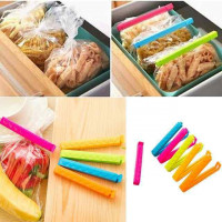 5Pcs/Lot Househould Food Snack Storage Seal Sealing Bag Clips Sealer Clamp Food Bag Clips Kitchen Tool Home Food Close Clip Seal