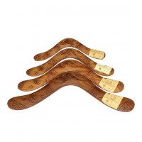 Australian Hardwood Burnt Boomerang - 16 inch