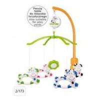 CANPOL BABIES Plastic carousel with Universal handle-Krówki